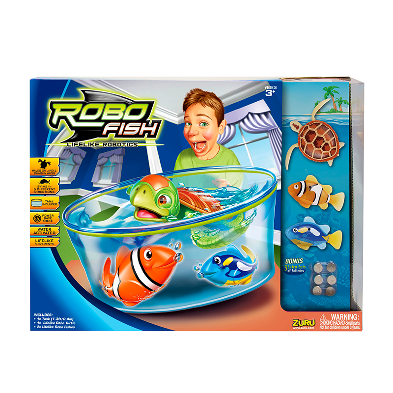 Robo Fish Play Set Electronic Toys B Amp M