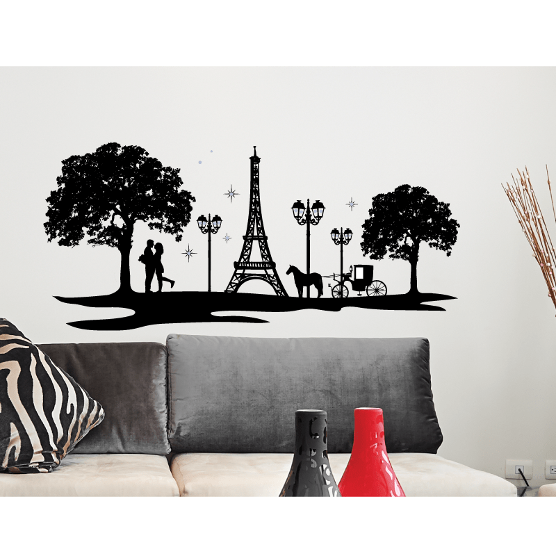 jewelled silhouette wall sticker paris home accessories