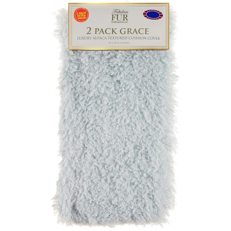 Grace Alpaca Textured Faux Fur Cushion Cover 2pk Home Decor