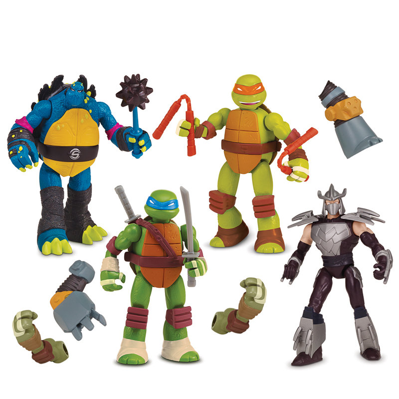 Tmnt Mutations Mix N Match Figures 4pk Toys Action