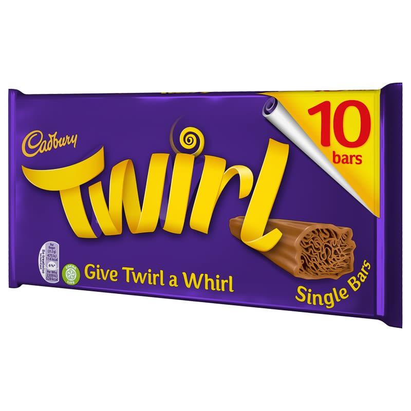 Cadbury Twirl 10pk Chocolate Bars Chocolate Multipack