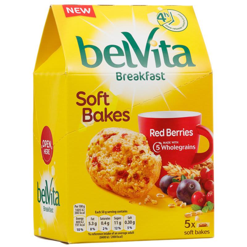 Belvita Breakfast Soft Bakes Red Berries 5pk Breakfast