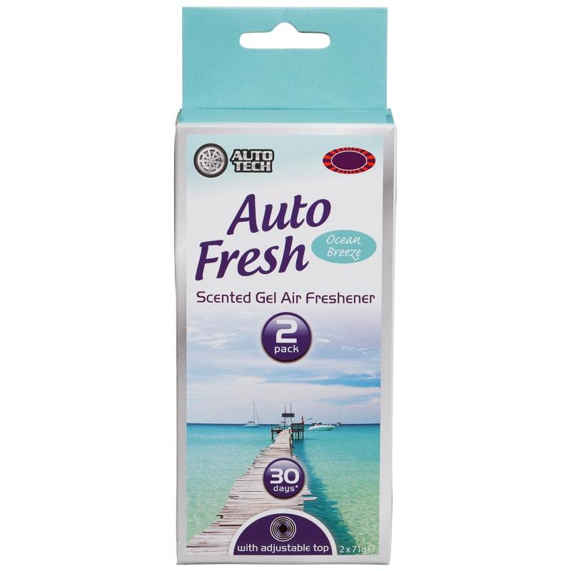 Gel Air Freshener >> Auto Tech Auto Fresh Scented Gel Air Freshener Ocean Breeze 2pk