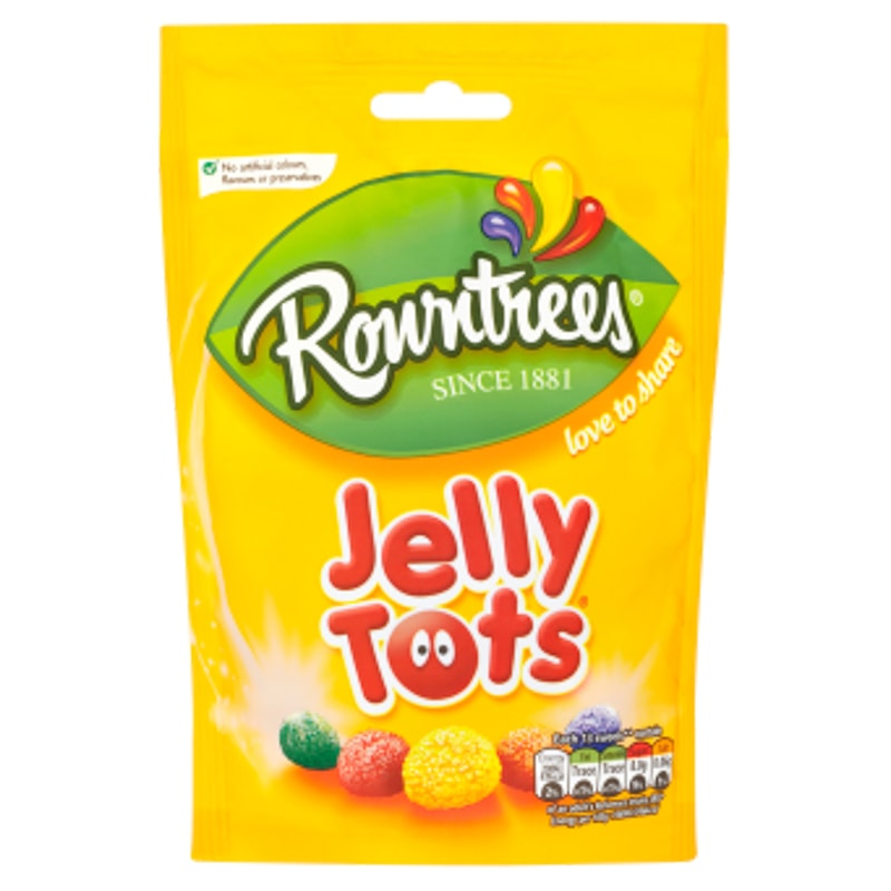 Rowntree's Jelly Tots Pouch 150g | Groceries | Sweets - B&M