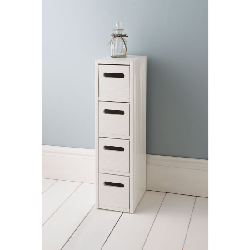 Polar 4 Drawer Unit White Bathroom Furniture B Amp M