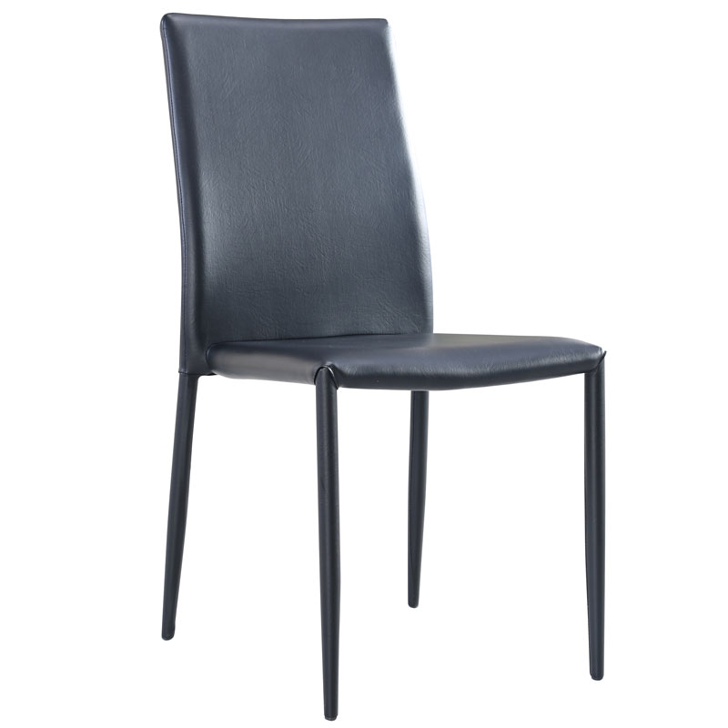 Allen faux leather chair dining room furniture b m for B m dining room furniture