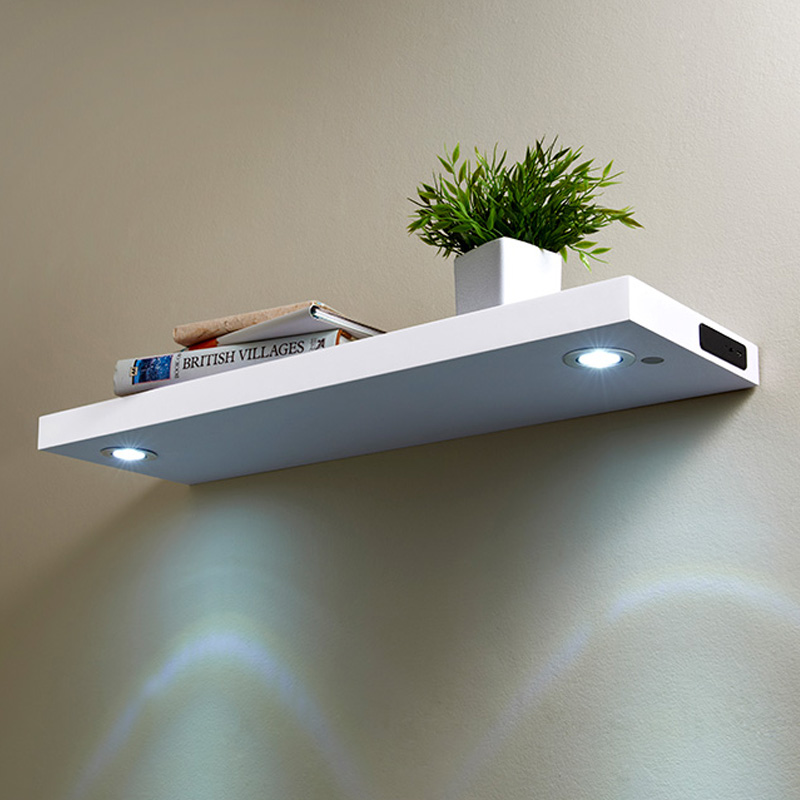 Led Shelf 80cm White Shelving B Amp M