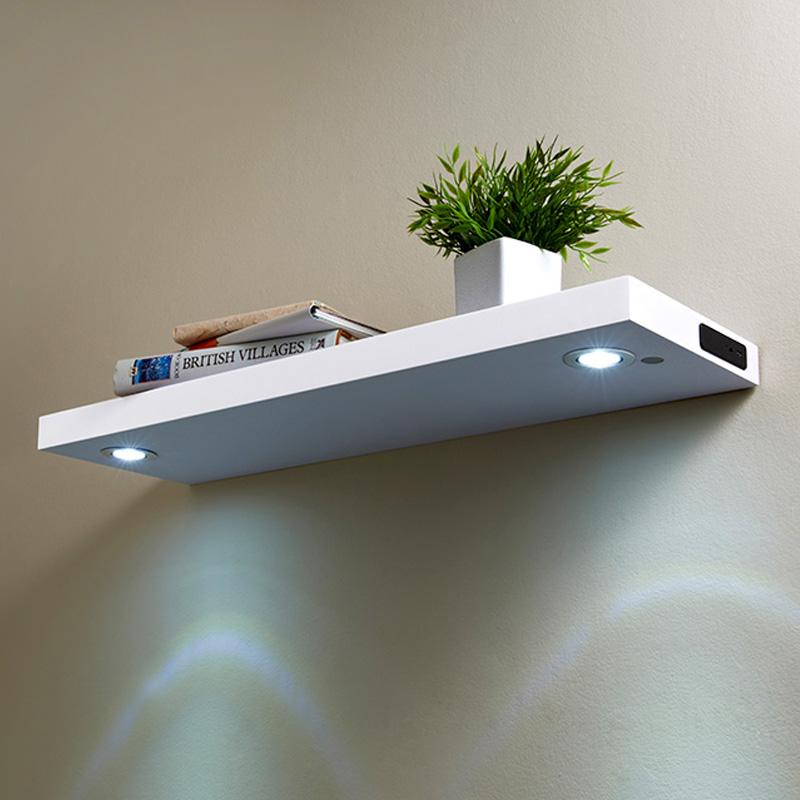 led shelf 80cm white shelving b m. Black Bedroom Furniture Sets. Home Design Ideas