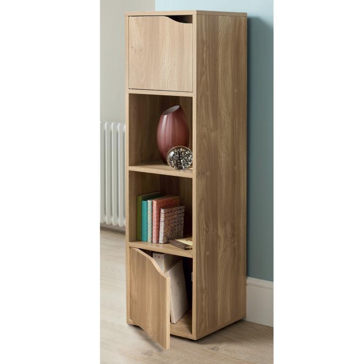 314768 Turin 4 Cube Shelves Oak Finish