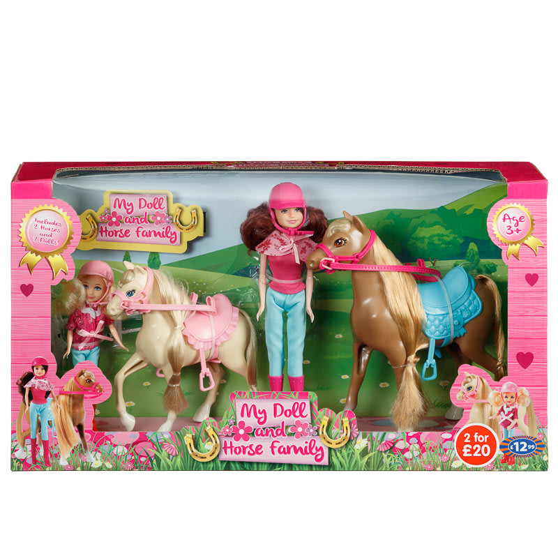 My Doll & Horse Family Play Set