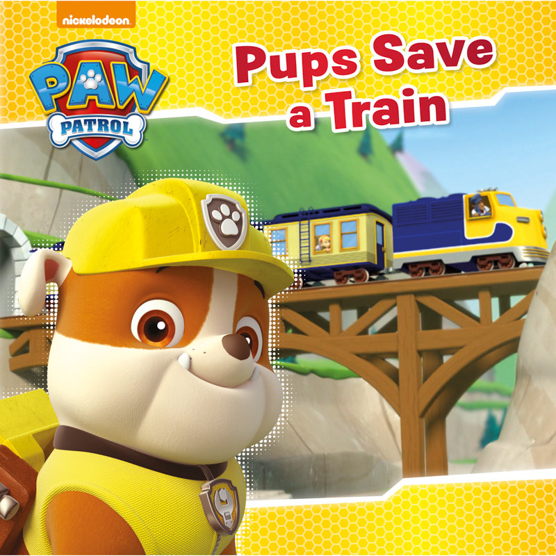 Paw Patrol Story Book Pups Save A Train Kids Books