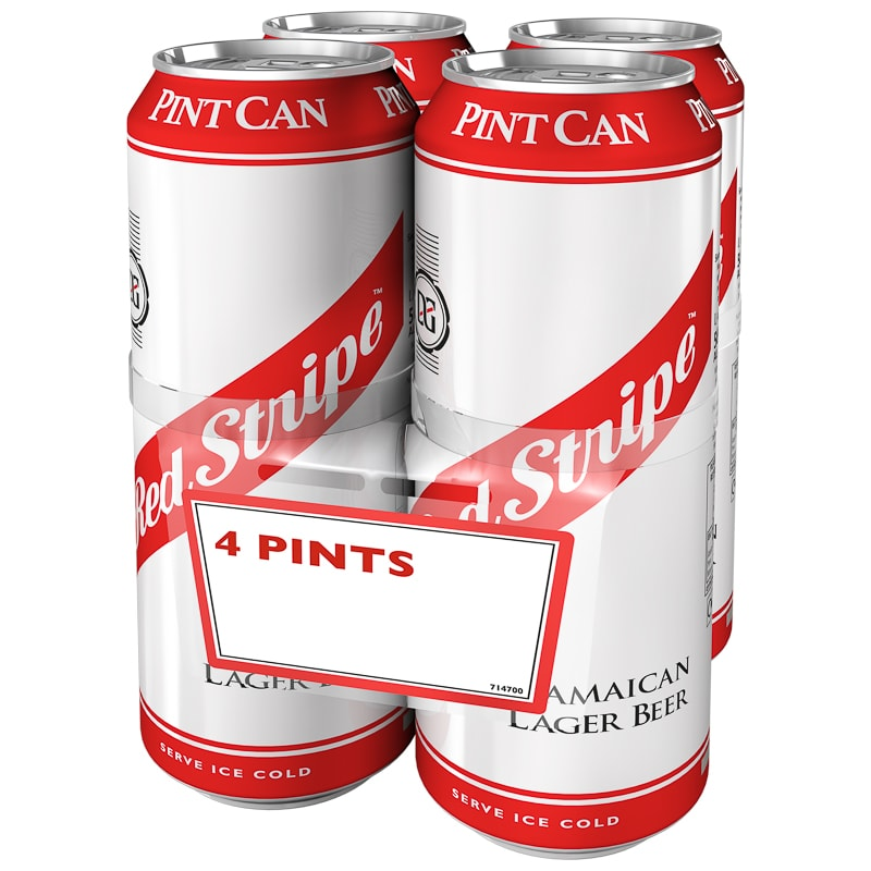 Red Stripe Jamaican Lager 4 x 568ml