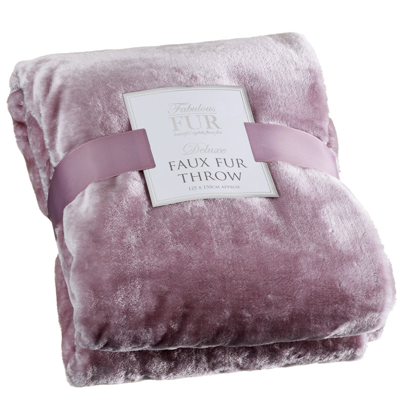 Deluxe Faux Fur Throw Home Soft Furnishings B Amp M