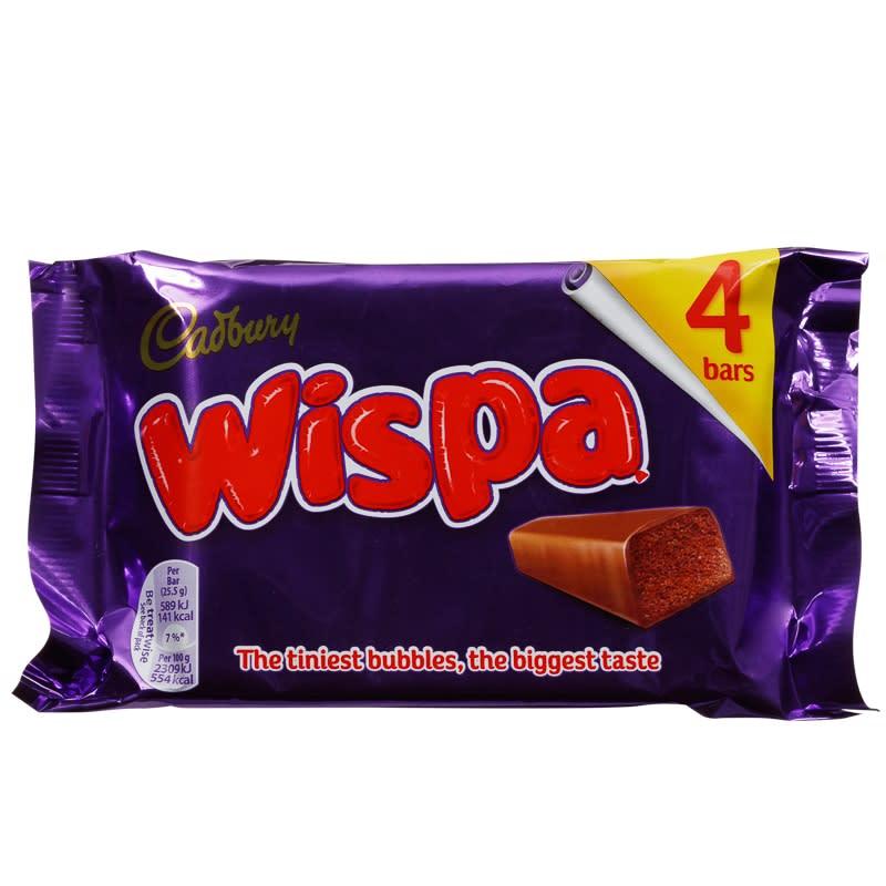 Cadbury Wispa 4pk Chocolate Bars Chocolate Multipack