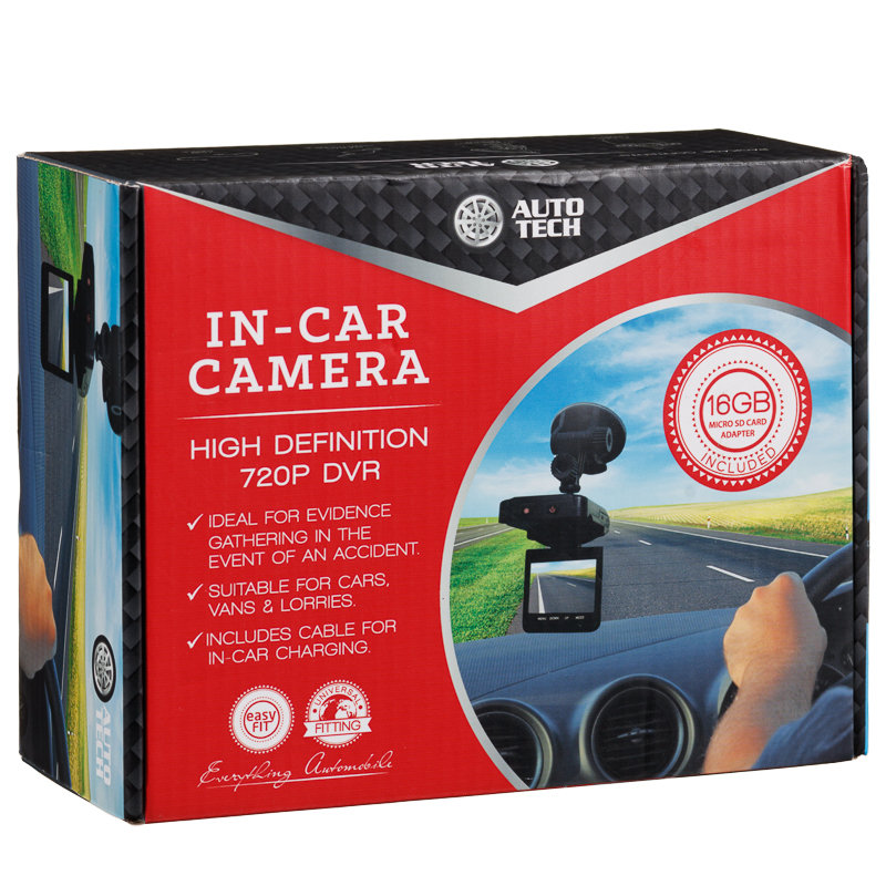 Auto Tech In-Car Camera HD 720p DVR | Dash Cams - B&M