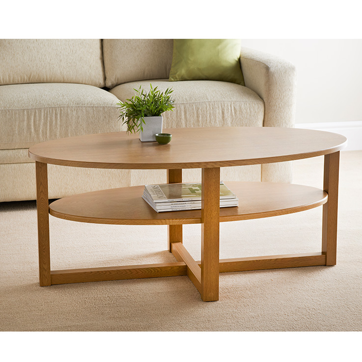 Oval Oak Coffee Table Uk: Occasional & Living Room Furniture