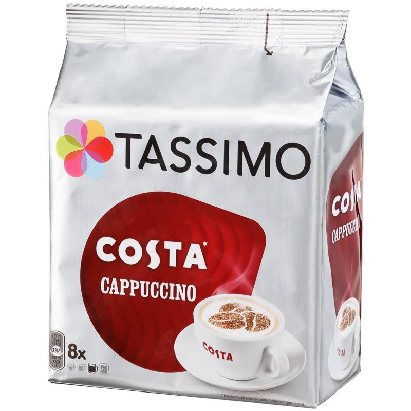 Tassimo Costa Coffee Pods 8pk Cappuccino