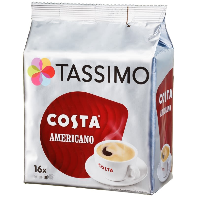 Tassimo Costa Coffee Pods 16pk Americano
