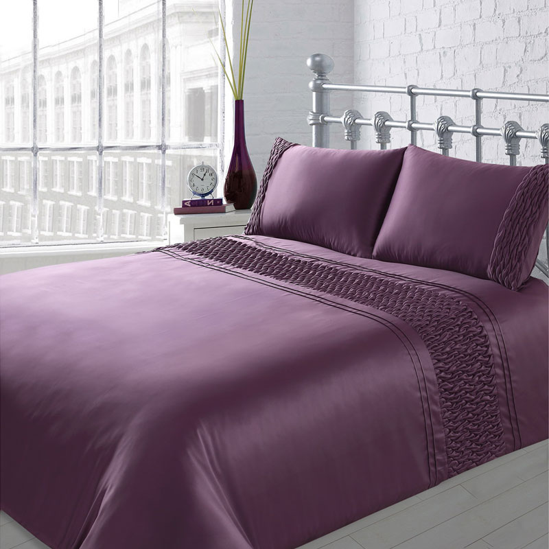 Karina Bailey Sienna Rouche Duvet Set Double Bedding B Amp M