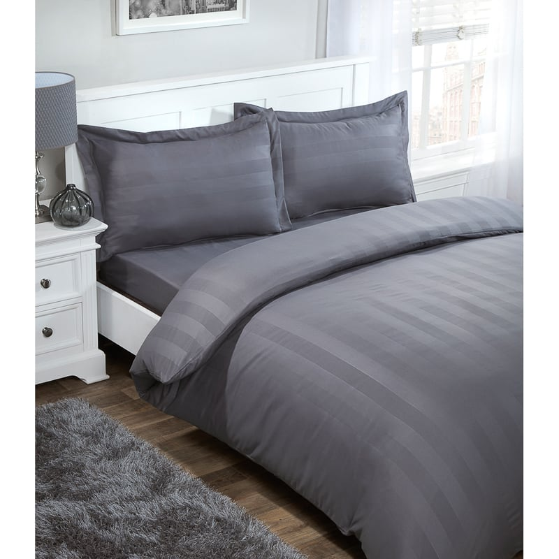 Silentnight Satin Stripe Complete Bed Set Double Bedding