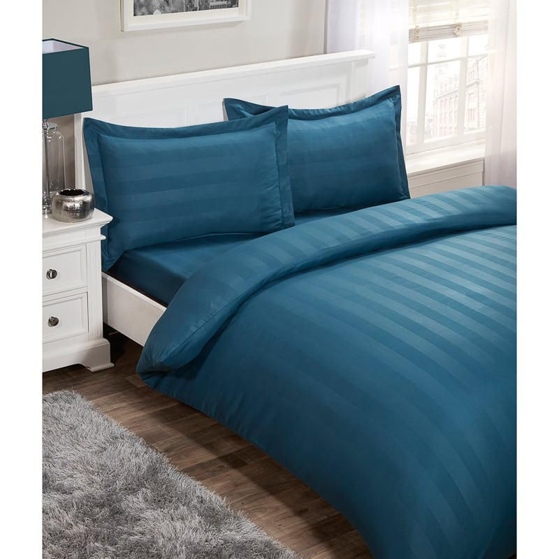 Silentnight Satin Stripe Complete Bed Set King Bedding B Amp M