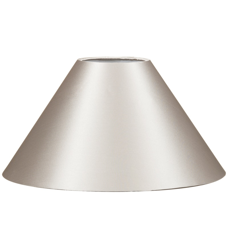 315588 12 Inch Coolie Satin Silver Lamp Shade