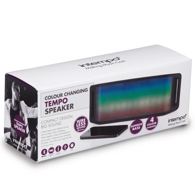 Intempo LED Bluetooth Speaker