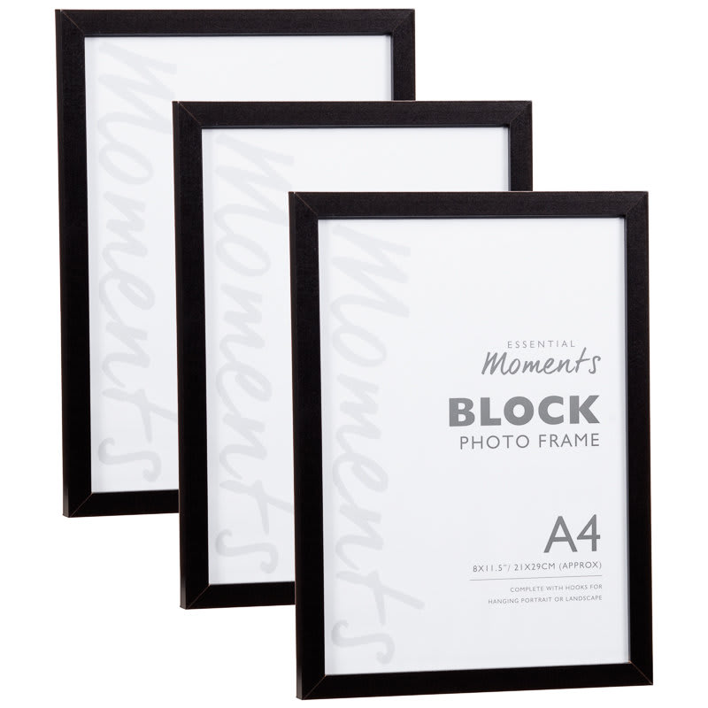 Block A4 Photo Frame - Black | Home Decor, Photoframes