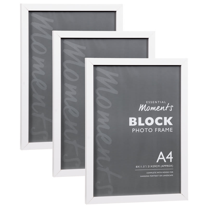 Block A4 Photo Frame - White | Home Decor, Photoframes
