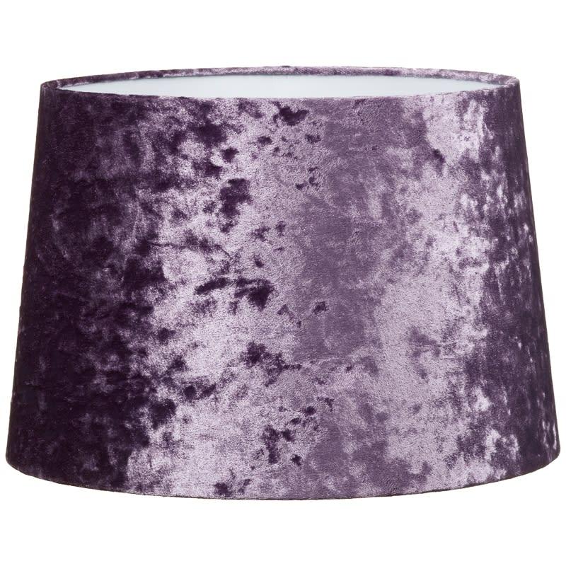 Crushed velvet light shade home decor lighting bm 328996 crashed velvet purple light shade mozeypictures Images