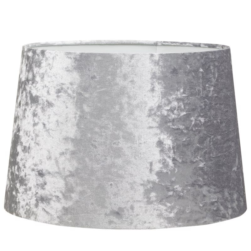 Crushed velvet light shade home decor lighting bm 328996 crushed velvet light shade silver mozeypictures Gallery
