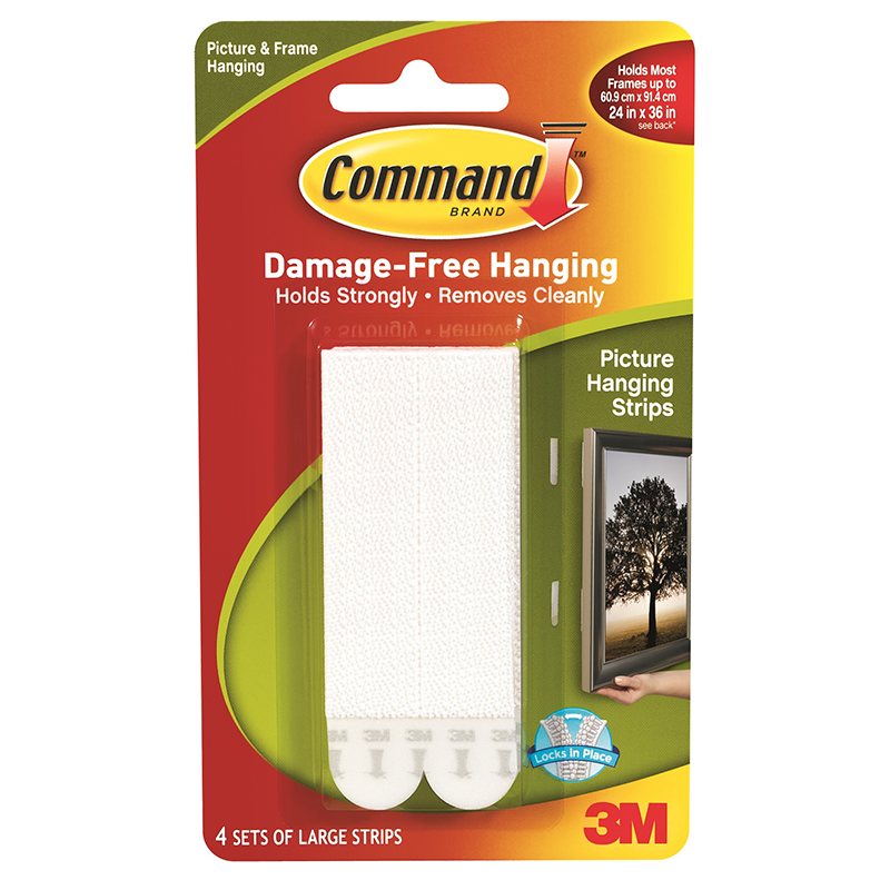 Nail Striping Tape Walmart: Command Picture Hanging Strip Large 4pk