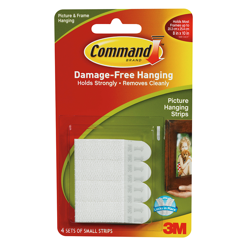 Command Picture Hanging Strip Small 4pk Diy Hooks B Amp M