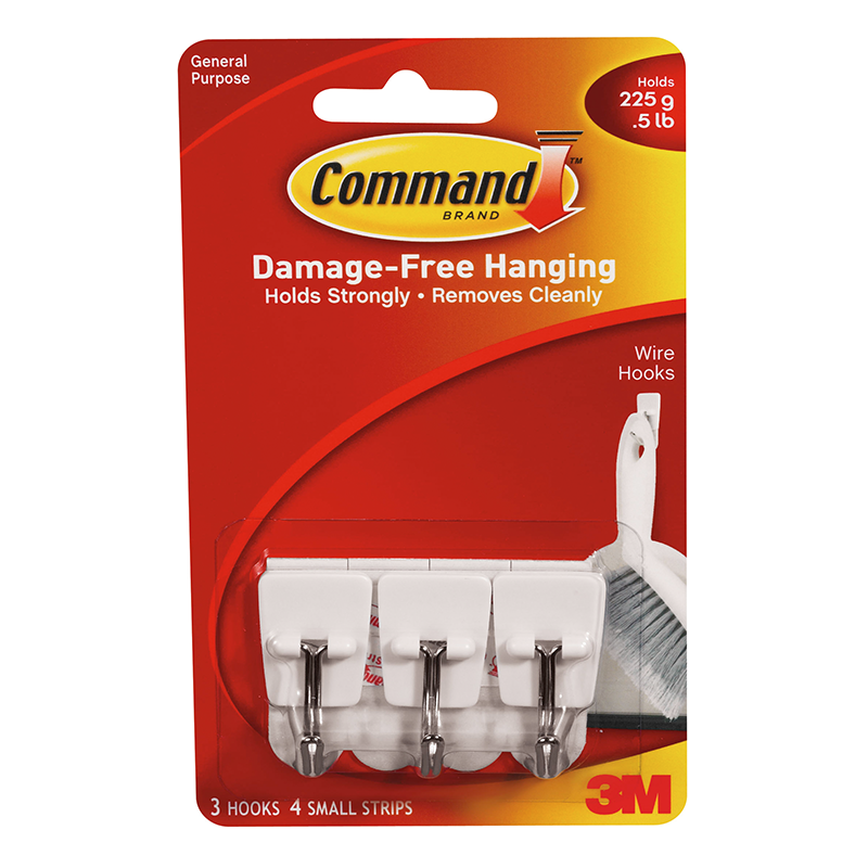 Command Small Utensil Wire Hooks 3pk Diy Hooks B Amp M