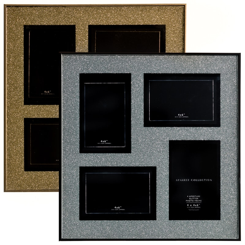 Glitter 4 aperture box photo frame 4 x 6 home accessories - Six pictures photo frame ...