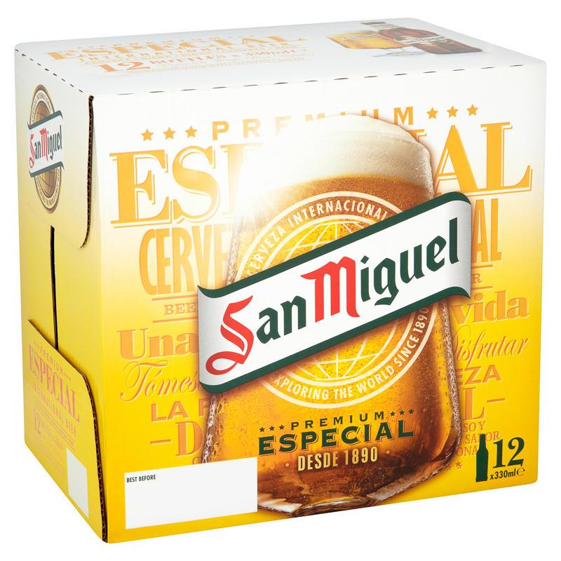 San Miguel Premium Lager 12 X 330ml Groceries Beer