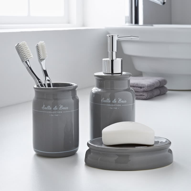 Salle de Bain Bathroom Set 3pc - Grey