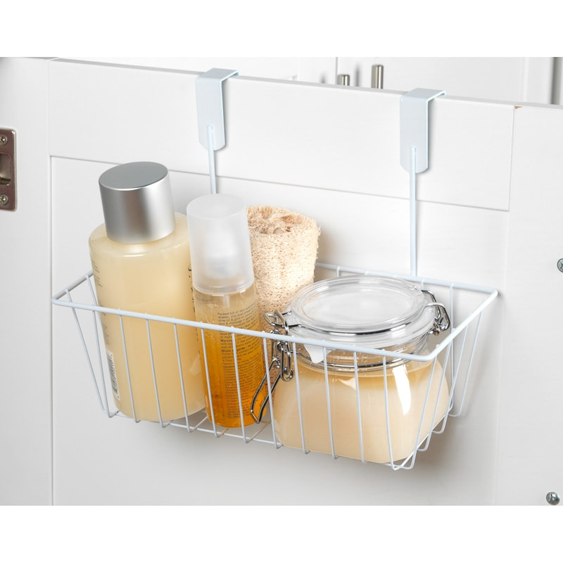 Beldray overdoor storage basket bathroom home b m for Bathroom accessories baskets