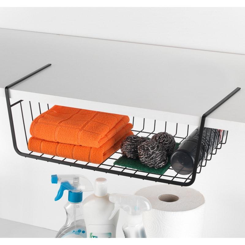 Beldray under shelf basket 2 pack bathroom storage b m for Bathroom accessories baskets