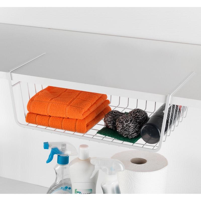 Beldray under shelf basket 2 pack bathroom storage b m for Basket bathroom accessories