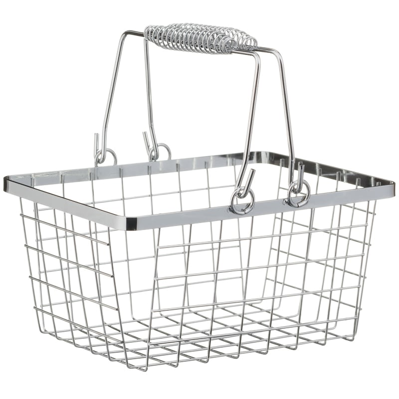 Shopping Storage Basket - Chrome