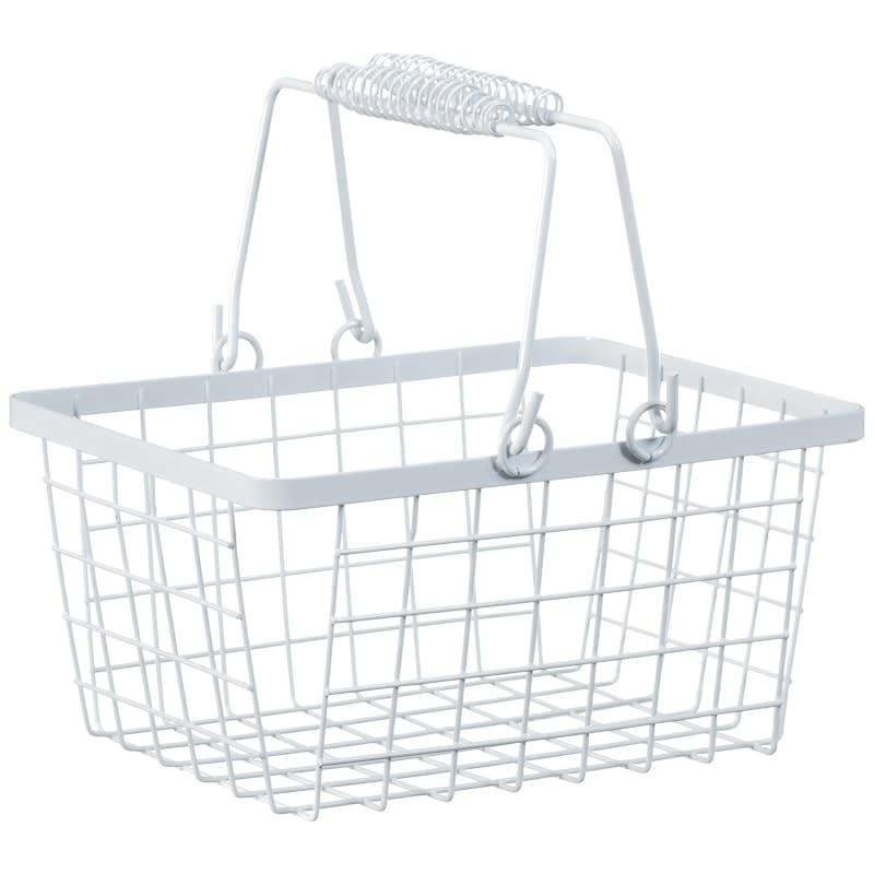 316368-storage-basket-white  sc 1 st  Bu0026M & Shopping Storage Basket - White | Baskets - Bu0026M