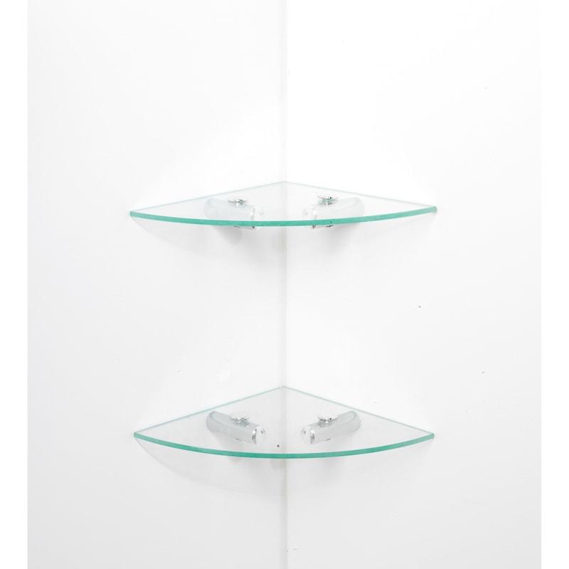 316450 beldray glass shelves 2 - Glass Corner Shelves