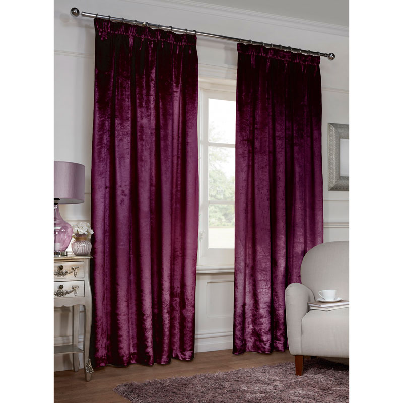 Versailles Crushed Velvet 3 Quot Tape Fully Lined Curtain 66