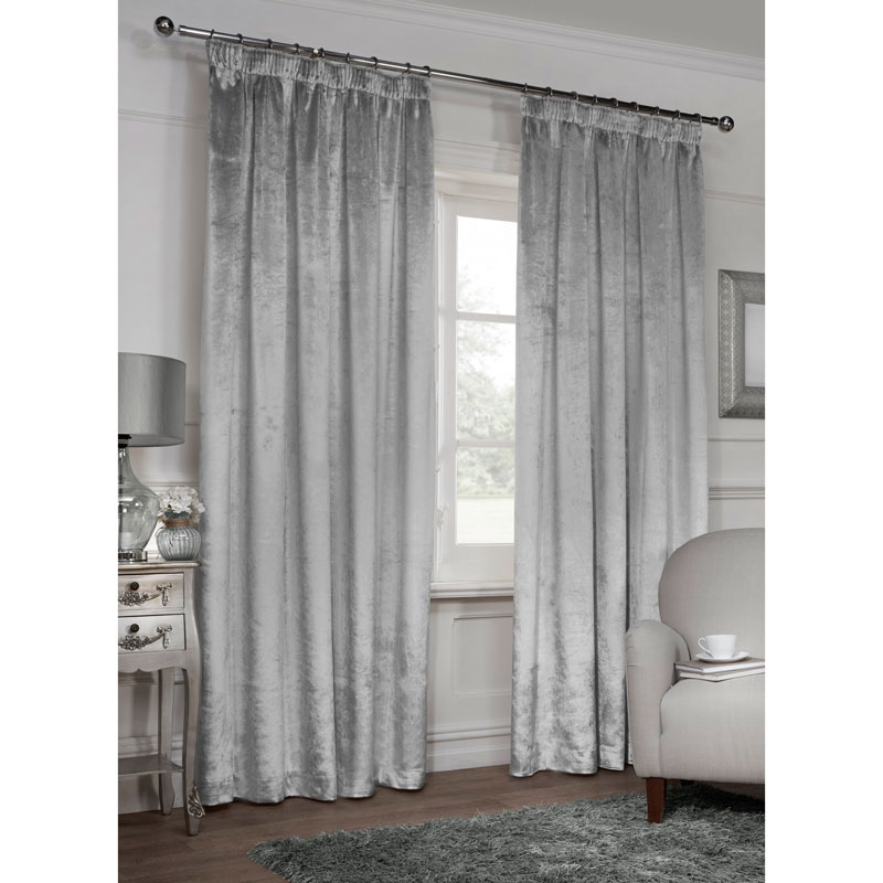 Versailles Crushed Velvet 3 Quot Tape Fully Lined Curtain 46
