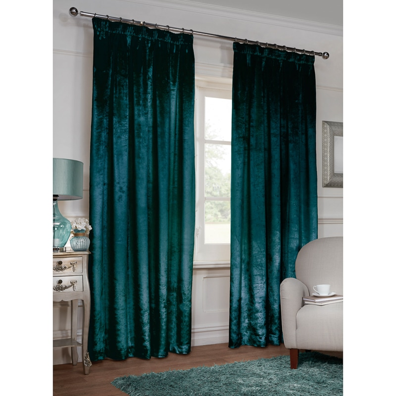 Versailles Crushed Velvet 3 Quot Tape Fully Lined Curtain 66 X