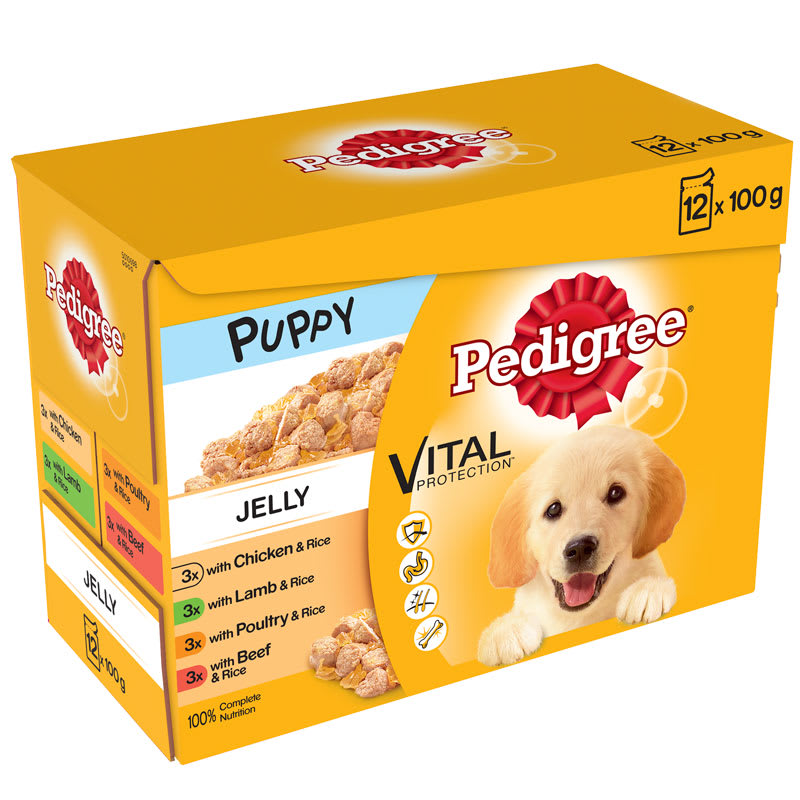 Pedigree Puppy Dog Food in Jelly 12pk