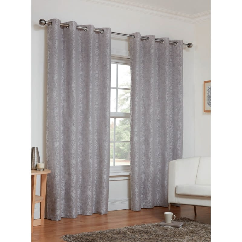 Dorchester Damask Fully Lined Curtains 66 X 72 Quot Home B Amp M