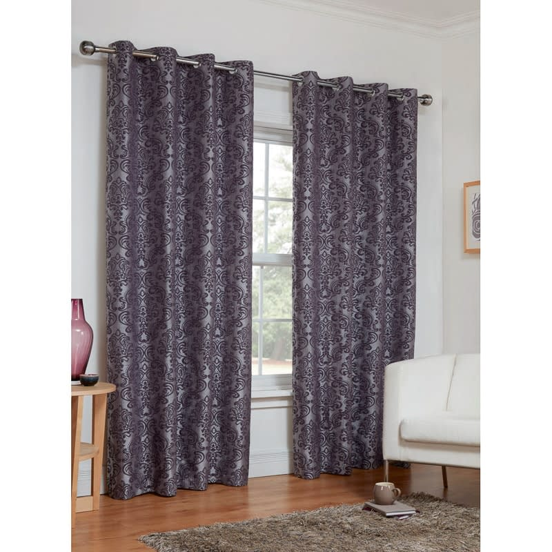 Dorchester Damask Fully Lined Curtains   46 X 72