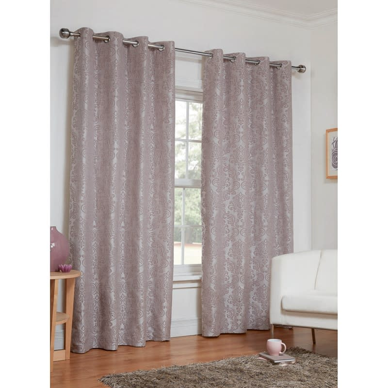 Dorchester Damask Fully Lined Curtains 46 X 54 Quot Home B Amp M